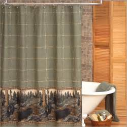 Lodge Shower Curtains The Bears Rustic Lodge Shower Curtain