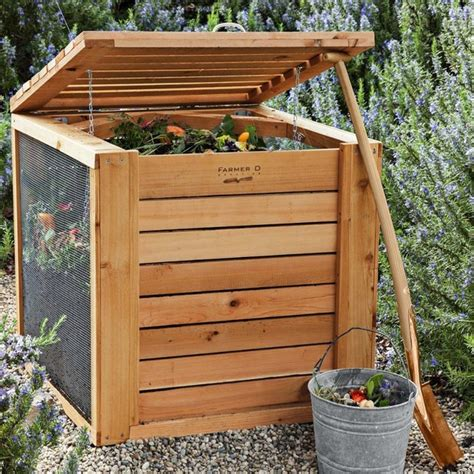 Greenhouse Designs Floor Plans by Farmer D Cedar Composter Contemporary Compost Bins