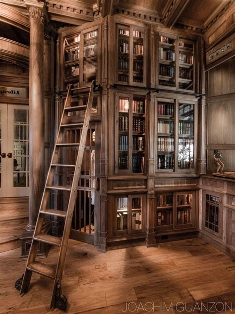home library with ladder a room of one s own