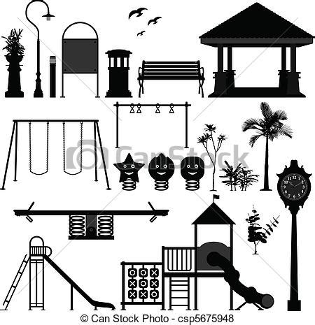 Vector of Children Playground Park Garden   A set of