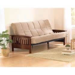 better homes gardens mission wood arm futon heirloom
