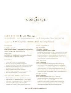 concierge cover letter 28 concierge resume sle concierge manager resume
