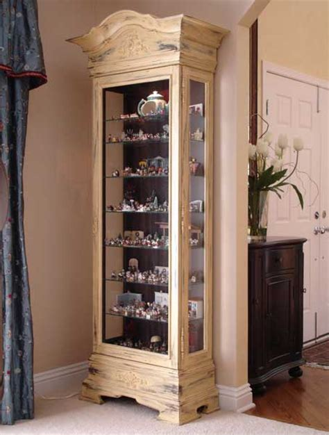 painting curio cabinet ideas painted distressed curio cabinet
