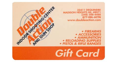 Can You Use Guitar Center Gift Cards Online - use your gift card to pay for your order double action indoor shooting center gun shop