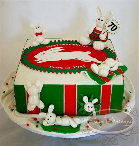 Cake Decorations Sydney by South Sydney Rabbitohs Rugby League Cake Cakecentral