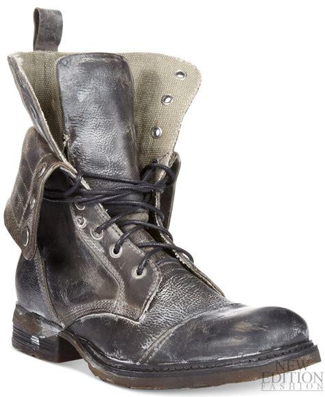 bed stu men s boots bed stu james men distressed leather military inspire combat boot pebble grey ebay