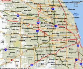 Chicago Metro Area Map by Map Of Chicago Area Map Of The World