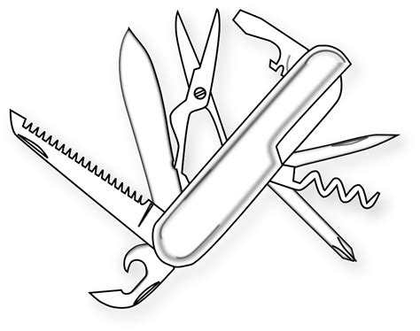 pocket knife coloring pages clipartist net 187 clip art 187 food swiss army knife black