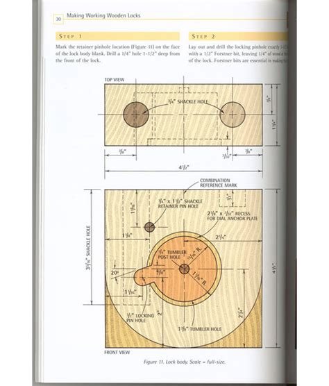 wood work wooden lock plans easy diy woodworking