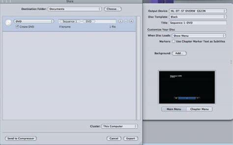 final cut pro burn dvd how to burn final cut pro projects to dvd on mac