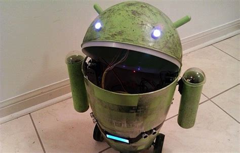 android trash bin android trash can robot www hardwarezone sg