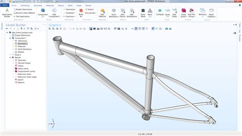 bicycle frame design geometry comsol multiphysics 174 software understand predict and