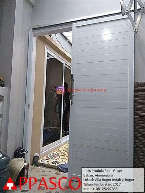 Pintu Geser Aluminium di Villa Bogor Indah   Jual Kanopi