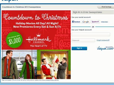 Countdown To Christmas Sweepstakes - valpak 5 000 countdown to christmas sweepstakes