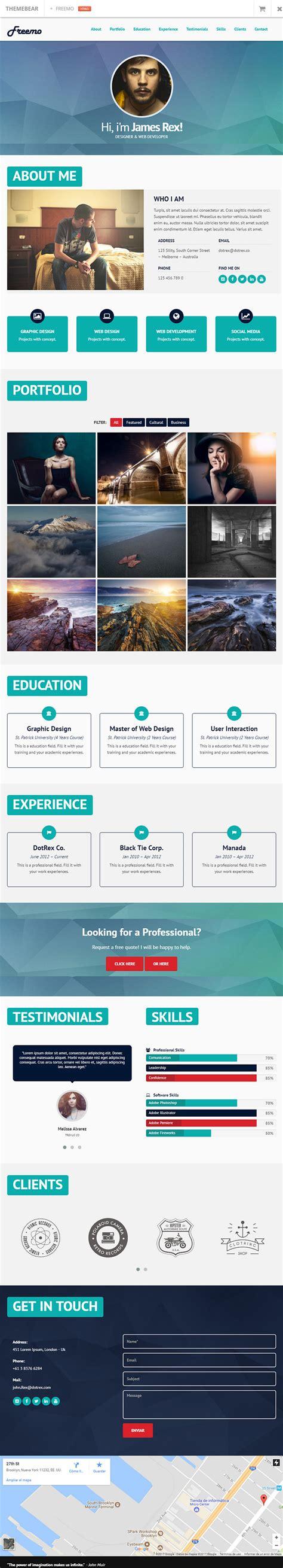 bootstrap themes portfolio freemo bootstrap resume portfolio theme bypeople