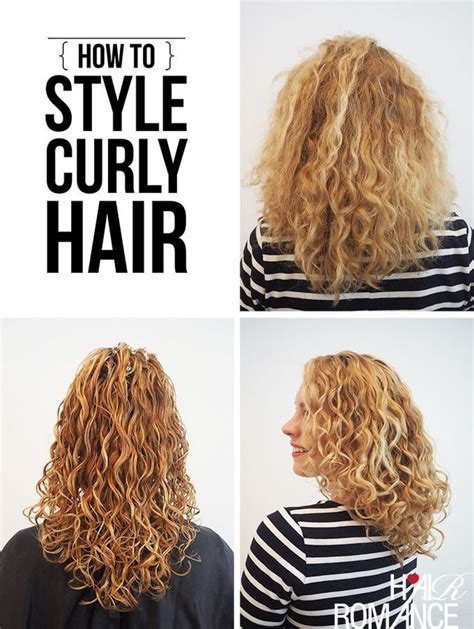 why is my hair curly in front and straight in back how to style curly hair for frizz free curls video