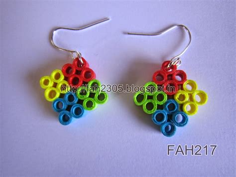 Quilling Paper Earring - fah creations paper quilling earrings