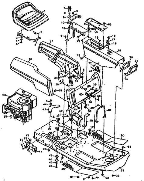 craftsman lawn mower parts diagram craftsman 30 quot lawn mower replacement parts model