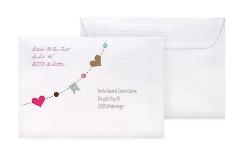Hochzeitseinladung Umschlag Beschriften umschl 228 ge mit adressaufdruck f 252 r hochzeitskarten