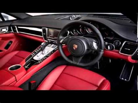 white porsche red interior porsche panamera white red interior 2 youtube