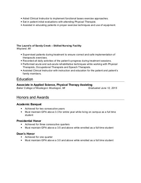 home care physical therapist resume