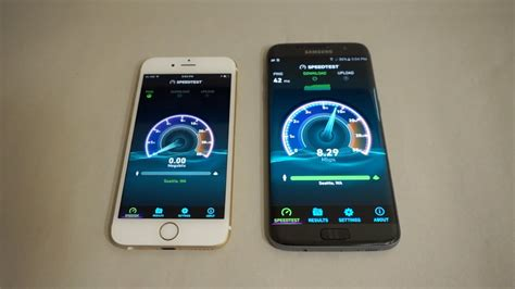 apple iphone 6s vs samsung galaxy s7 edge speed test