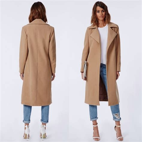 Coat Closet missguided altered keeping camel wool waterfall coat