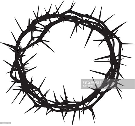 printable crown of thorns crown of thorns vector art getty images