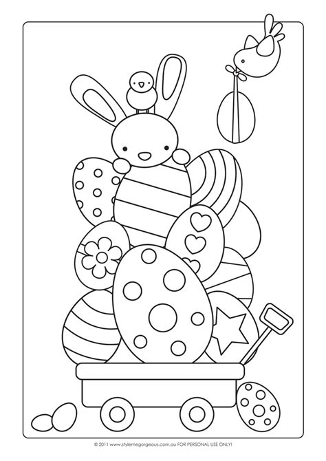 free printable easter coloring pages crafts style me gorgeous free easter colour in page