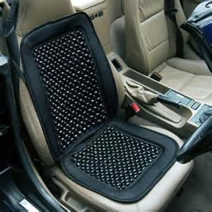 Beaded Seat Cover For Car Black Wooden Bead Beaded Massaging Car Seat Cover Ebay