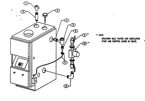 boiler parts diagram boiler controls piping diagram parts list for model