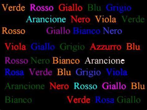 test italiano effetto stroop