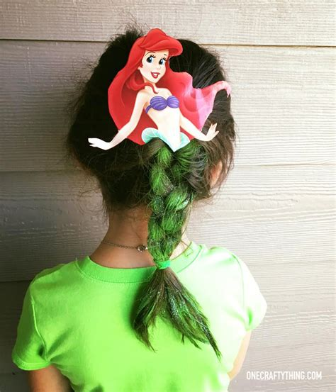 wakiest easiest hairstyles crazy hair day at school the little mermaid