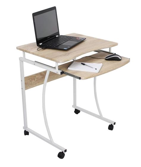 Small Computer Desk With Shelves Compact Computer Desk With Extending Shelf Home Desks And Computer Furniture Ebay