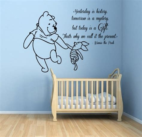 Baby Boy Nursery Wall Decals Winnie The Pooh Wall Decals Piglet Wall Quotes Words Children Vinyl Sticker Baby Wall Decor
