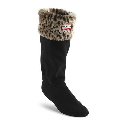 welly socks leopard cuff welly socks