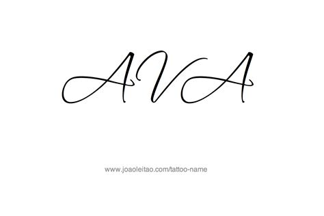 ava tattoo name designs designs and