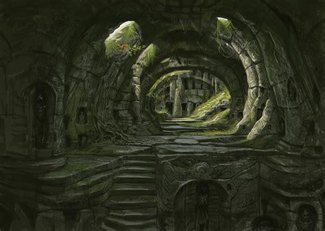 Gothic Wall Murals barrow antechamber video games artwork