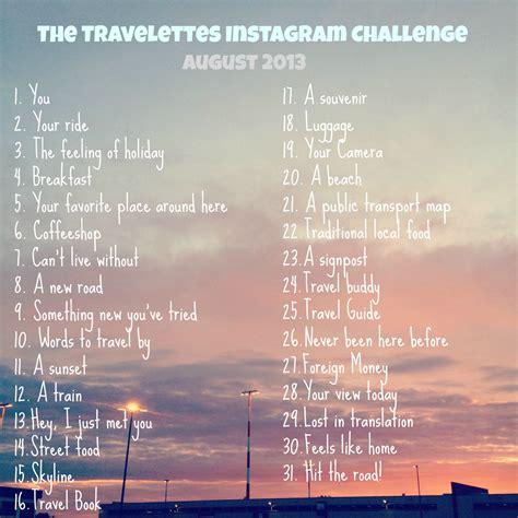 instagram august challenge travelettes 187 187 instagram challenge august 2013