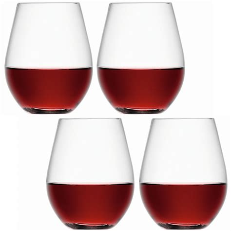 Wine Glass Tumbler Lsa Stemless Wine Glass Tumblers Set Of 4