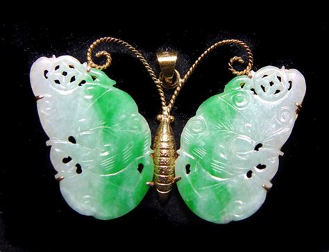 Butterfly Set By Ori Naura jadeite butterfly set in gold for sale antiques