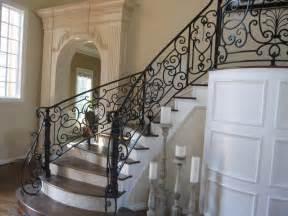 Rod Iron Handrail Indoor Iron Stair Railings And Balco Luxurious Iron