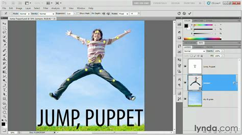 tutorial photoshop warp photoshop using the puppet warp tool lynda com tutorial