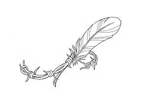 wire tattoo designs barbed wire feather designed by white free to