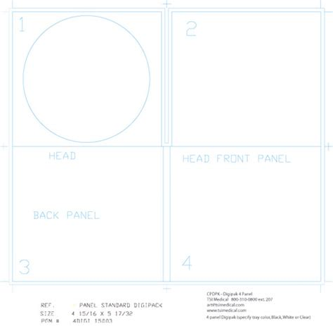 cd digipak template
