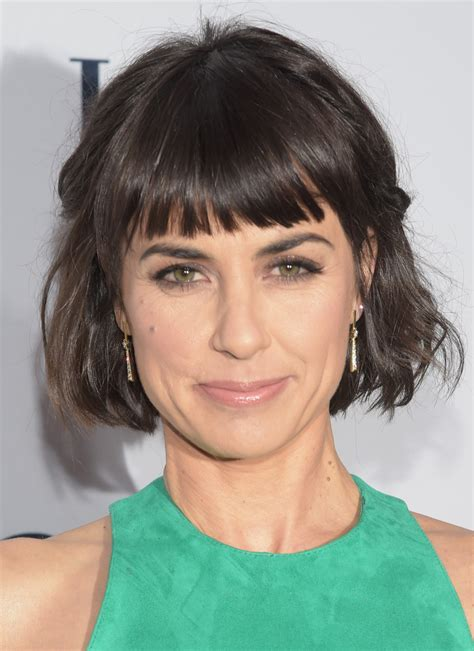short cut with chinese bang constance zimmer short cut with bangs short hairstyles