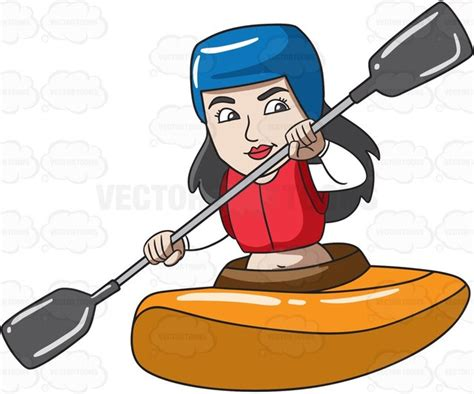 kayak clipart a enjoying time in a kayak boat clipart