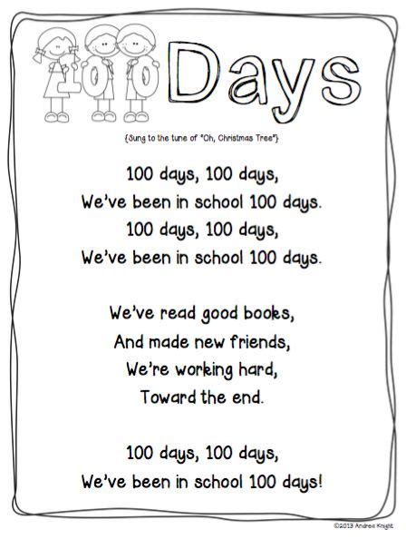 day song free 42 best 100th day of school images on dental