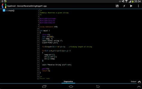 android free cppdroid c c ide for android platform the programmer