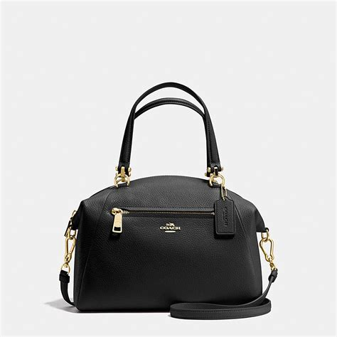 Coach Leather Satchel by Coach Prairie Satchel In Polished Pebble Leather